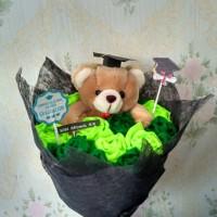 Jual buket flanel Wisuda (teddy bear) Murah