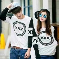 Jual Cp X (white, maroon, hitam, turkish) baju couple Murah