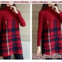 long sweater burbery red CC57