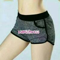 Jual Celana Olahraga Wanita Hotpans Sport pendek Gym Fitnes Senam Zumba Murah