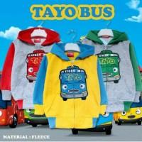 Jaket bayi balita anak karakter Tayo Bus (usia 2-7 tahun)