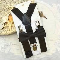 Jual suspender dasi kupu anak dn bayi set suspenders hitam import sse store Murah