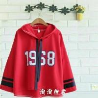 sweat viola hoodie merah