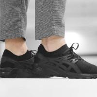 harga Asics Gel-kayano Knit Trainer Triple Black Sepatu Jalan Pria Premium Tokopedia.com