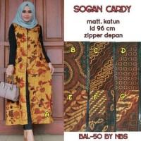 cardigan long outer cardy panjang batik hijab muslim maxi cardi unik