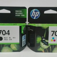 Tinta Printer ORIGINAL HP 704 Black & 704 Colour 1set