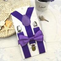 Jual suspender dasi kupu anak dn bayi set suspenders ungu import sse store Murah
