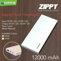 Jual Hippo ZIPPY Power Bank 12000 mAh Quick Charging 3.0/Fast Charging Murah