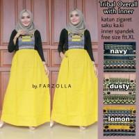 Jual Dress murah Triball overall with inner Murah