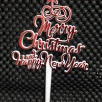 Tusukan / Topper / Logo Natal & Tahun Baru Bintang