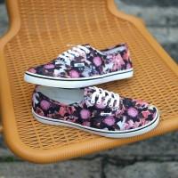 Vans Authentic Lo Pro Floral Mix Black Pink