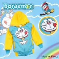 Jual Jaket bayi balita anak karakter Doraemon (warna biru + kuning usia 2-7 Murah