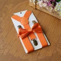 Jual suspender dasi kupu anak dn bayi set suspenders orange import sse Murah