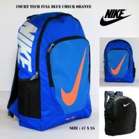 harga Tas Ransel Nike Kerja Sekolah Pria Nike Court Full Biru Lis Oranye Tokopedia.com