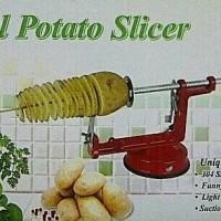 Jual Original Peralatan dapur modern terkini Spiral potato slicer pemotong Murah