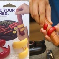 Jual Spiral Hot Dog Slicer Alat Pemotong Sosis Hotdog dekorasi makanan CHEF Murah