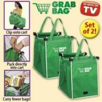 Jual #Tote Bag Grab Bag Tas Belanja Shopping Bags Trolley Supermarket Go Gr Murah