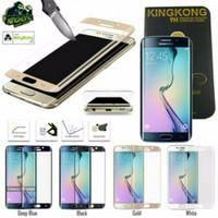 Jual Terbaru Kingkong Samsung S6 Edge Tempered Glass Original Gold White Bl Murah