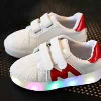 Jual Sepatu anak nyala LED import size 31 35 Murah