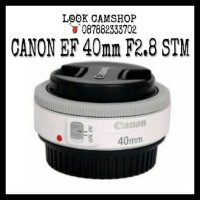LENSA KAMERA DSLR CANON EF 40mm 40 F2.8 STM - WHITE PUTIH