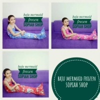 baju mermaid frozen murah