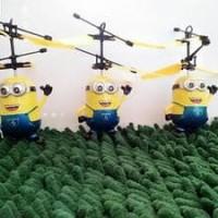 Jual NEW DRONE KARAKTER MINION SENSOR HELIKOPTER / MAINAN TERBANG Murah