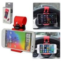 Jual Car Steer Wheel Socket Holder Stir Mobil Lazypod Socket Phone Android Murah