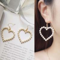 Jual Anting love shape pearl design Murah