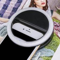 Jual Lampu Selfie Ring Portable 36 LED Flash Light Utk Phone Camera Holder Murah
