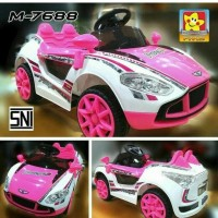 mobil mainan anak aki Pink pmb Pakai Remote Control like pliko