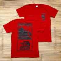 KAOS T SHIRT SUPREME THE NORTH FACE STEEP TECH RED