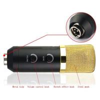 Jual Paling Laris Mic Condenser Mikrofon USB + Mini Tripod Stand - MK-F100T Murah
