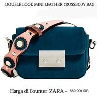 Jual Tas wanita Supplier grosir tas wanita branded ZARA DOUBLE LOCK SUEDE Murah