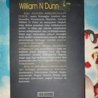 Buku Analisis Kebijakan Publik by William N. Dunn