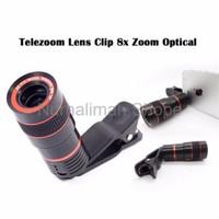 Jual Promo Diskon lensa clip tele telescope 8x zoom jepit universal untuk Murah