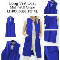 Jual DAPATKAN SPECIAL long vest coat electrik RO vest wanita woll crepe bi Murah