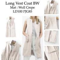 Jual DAPATKAN HARGA GOKIL Long Vest Coat BW SW long vest wanita woll crepe Murah