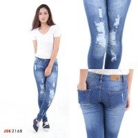 IM004- CELANA PANJANG JSK RIPPED JUMBO SKINNY DENIM PENSIL /LONG PANTS