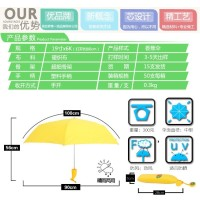 Jual Payung Lipat Design Cute Pisang Banana Umbrella UV Protection Kuning. Murah