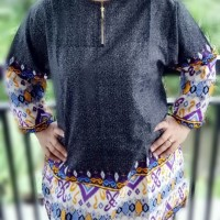 Jual Baju Muslim Tunik Sofia Tunic Black Murah