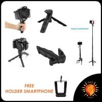 Jual 2 in 1 Portable Mini Folding Tripod for DSLR GO PRO XIAOMI YI BRICA Murah
