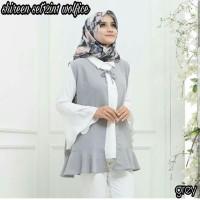 Jual TERMURAH atasan blouse wanita shireen set 2 in 1 murah Murah