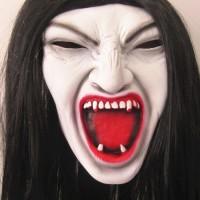 Topeng nenek sihir mak lampir valak latex wig seram halloween mask