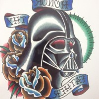 Jual Temporary Tattoo Color Starwars Darth Vader Tato Temporer besar  Murah