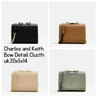 harga Tas Charles And Keith Bow Detail Clutch Original Uk.20x5x14 Tokopedia.com