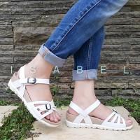 Jual Sandal Wanita IZ67 Bali Platform Sandal - White / Putih Murah