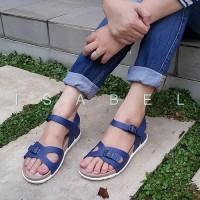 Jual Sandal Wanita IZ67 Rio Platform Sandal - Navy Blue / Biru Murah