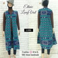 Jual ethnic Long vest outer outwear Tenun cardigan cardi Murah