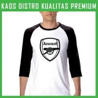 Jual Kaos Arsenal Logo 2 Raglan RGL-ARS02 Murah