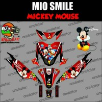 sticker full body motor mio smile mickey mouse